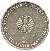 10 deutsche mark Constitution – avers