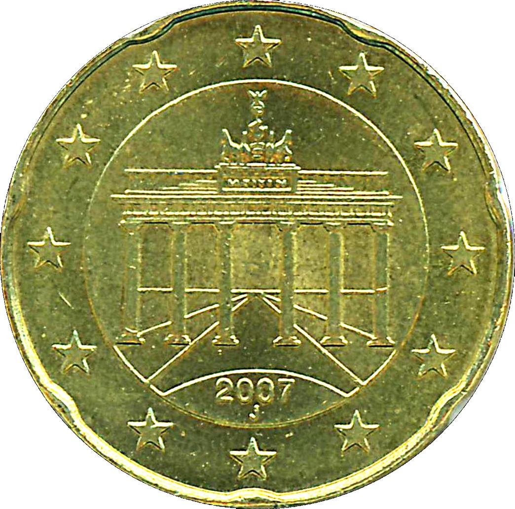 20 Cents Deuro 2e Carte Allemagne République Fédérale Numista