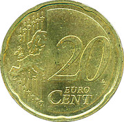 20 cents d'euro (2e carte) -  revers