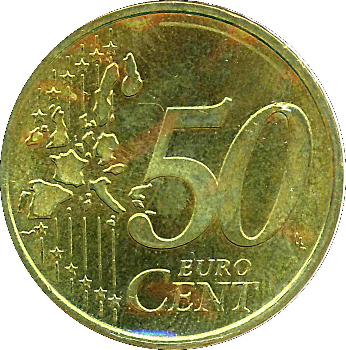 50 Cents Deuro 1ère Carte Allemagne République Fédérale Numista