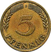 5 pfennig (Bank Deutscher Länder) -  revers