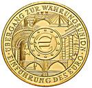 200 euros Introduction de l'euro – revers