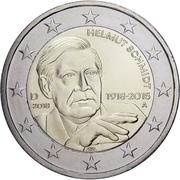 2 euros Helmut Schmidt -  avers