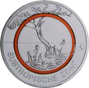 5 euros Climat subtropical – revers
