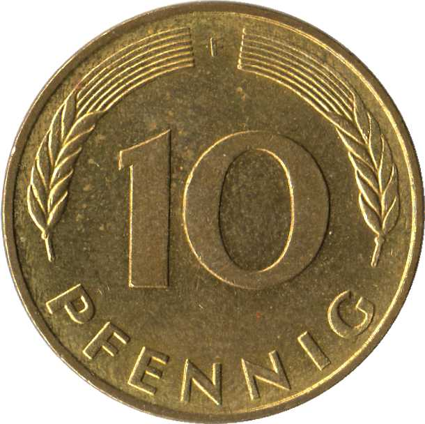 10 Pfennig Bundesrepublik Deutschland Allemagne République