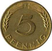 5 pfennig (Bundesrepublik Deutschland) -  revers