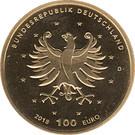 100 euros Châteaux d'Augustusburg et de Falkenlust – avers
