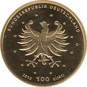 100 Euro (Schlösser in Brühl) – revers