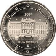 2 euros Bundesrat – avers