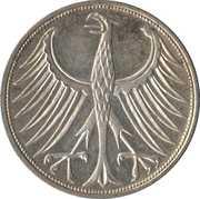 5 deutsche mark -  revers