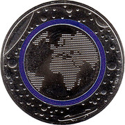 5 euros Planète Terre – revers