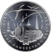 20 euros Ville de Rostock – revers