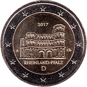 2 euros Rhénanie-Palatinat – avers