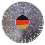 20 euros Constitution de Weimar – revers