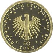 50 euros Piano -  avers