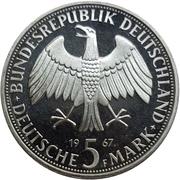 5 deutsche mark Wilhelm & Alexander von Humboldt -  avers