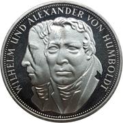 5 deutsche mark Wilhelm & Alexander von Humboldt -  revers