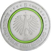 5 euros Climat tempéré -  avers