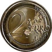 2 euros Chute du mur de Berlin -  revers