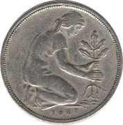 50 pfennig (Bank Deutscher Länder) – avers