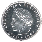 5 deutsche mark Ludwig van Beethoven – revers