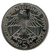 5 deutsche mark Union douanière -  avers