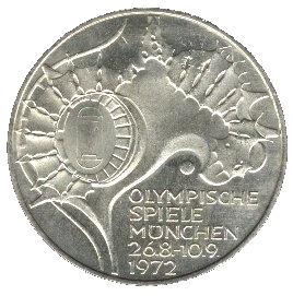 10 Deutsche Mark Stade Olympique De Münich Allemagne République