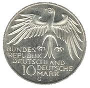 10 deutsche mark Stade Olympique de Münich -  avers