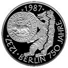 10 deutsche mark 750 ans de la ville de Berlin – revers