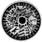 10 deutsche mark 40 ans R.F.A. – revers