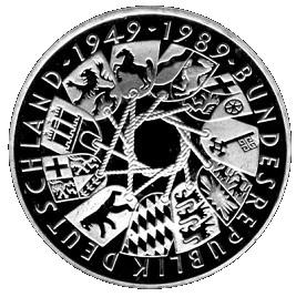10 Deutsche Mark 40 Ans Rfa Allemagne République Fédérale