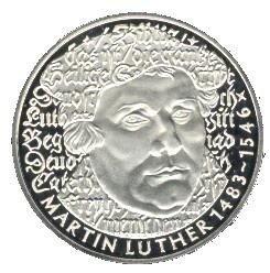 5 Deutsche Mark Martin Luther Allemagne République Fédérale