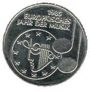 5 deutsche mark Année européenne de la musique – revers