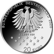 20 euros Baron de Münchhausen – avers