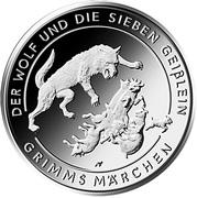 20 euros Le Loup et les Sept Chevreaux – revers