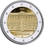 2 euros Brandebourg – avers