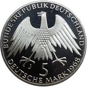 5 deutsche mark Friedrich Wilhelm Raiffeisen -  avers