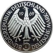 5 deutsche mark Theodor Fontane -  avers