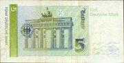 5 Deutsche Mark – revers
