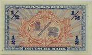 ½ Deutsche Mark – revers