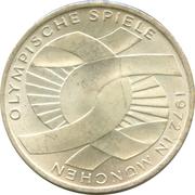 10 deutsche mark Jeux Olympiques de Munich -  revers