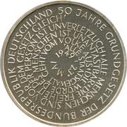 10 deutsche mark Constitution – revers