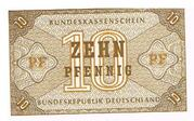 10 Pfennig Federal Treasury Note – avers