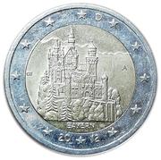 2 euros Bavière -  avers