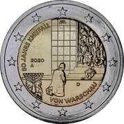 2 euros Genuflexion de Varsovie -  avers