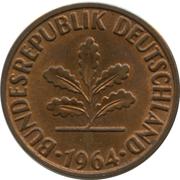 2 pfennig (bronze) -  avers