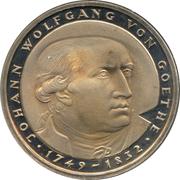 5 deutsche mark - Johann Wolfgang von Goethe -  revers