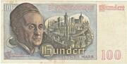 100 Deutsche Mark – revers