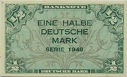 ½ Deutsche Mark – avers