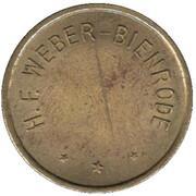 Jeton - HF Weber-Bienrode – avers
